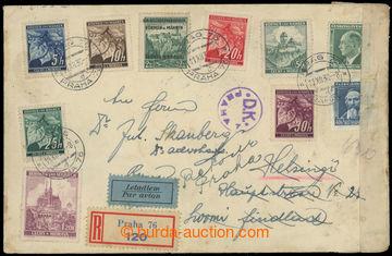 221316 - 1939 PRAHA - HELSINGFORS (HELSINKI)  R+Let-dopis zaslaný do