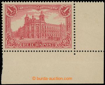 221361 - 1900 Mi.63a, REICHSPOST 1RM červená; luxusní rohový kus,