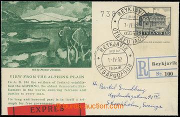 221367 - 1952 FDC / R+Ex obálka vyfr. zn. Mi.277, Parlament 25Kr jak