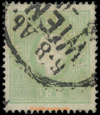 221371 - 1858 Ferch.12IIa, FJ I. 3Kr zelená, II. typ, část DR WIEN