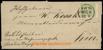 221373 - 1858 skládaný dopis vyfr. zn. Mi.12IIa, FJ I. 3Kr zelená,