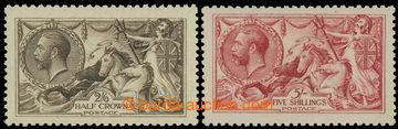 221387 - 1918-1919 SG.414, 416, Seehorses 2Sh/6P and 5Sh, print Bradb