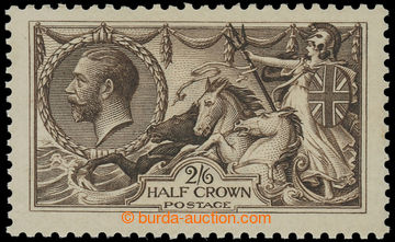 221388 - 1913 SG.400, Seehorses 2Sh/6P sepia-brown, tisk Watelow; bez