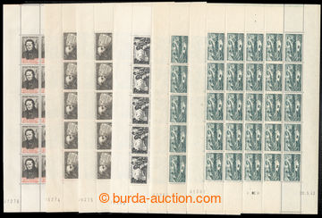 221439 - 1939-1943 SHEETS / selection of 6 complete sheets of 25, Mi.