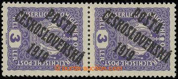 221516 -  Pof.33 STC, Koruna 3h fialová, svislá 2-páska se spojen�