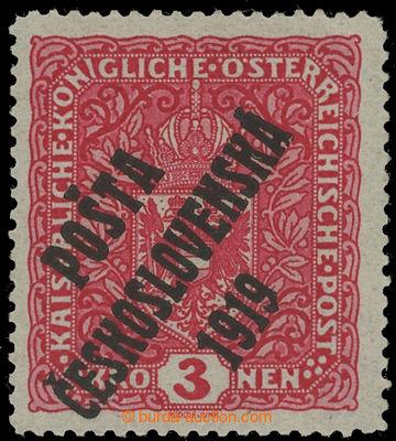 221523 -  Pof.49II, Znak 3K světle červená, široký formát, II.