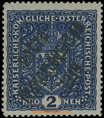 221530 -  Pof.48aII, Znak 2K tmavě modrá, široký formát, bezvadn