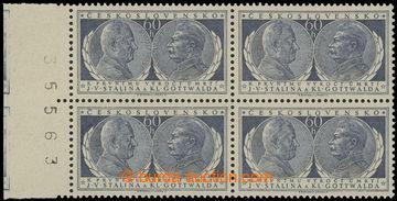 221583 - 1954 Pof.773 DO, Gottwald a Stalin 60h, levý krajový 4-blo