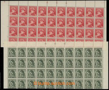 221610 - 1945 Pof.389DZ, 393DZ, Londýnské, horní 40-pásy, hodnota