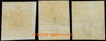 221661 - 1850 Ferch.1DD, 3x Znak 1Kr I. typ oboustranný tisk, 1- dí