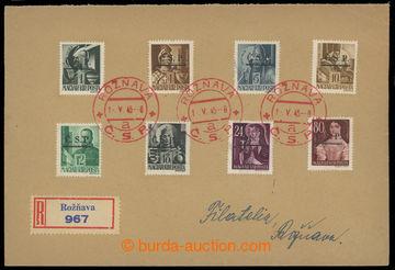 221689 - 1945 ROŽŇAVA / filatelisticky motivovaný R-dopis zaslaný