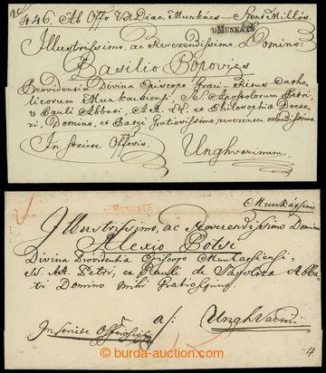 221700 - 1800-1830 V.MUNKATS  sestava 2 skládaných dopisů do Užho