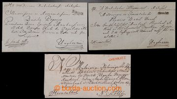 221703 - 1825-1845 V.MUNKATS  sestava 3 skládaných dopisů, 1x čer