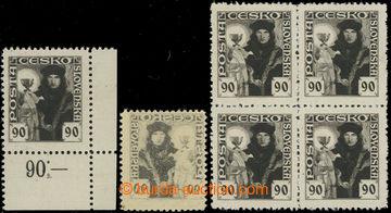 221708 -  Pof.163, 90h černá, sestava 4-bloku, pravý dolní rohov�