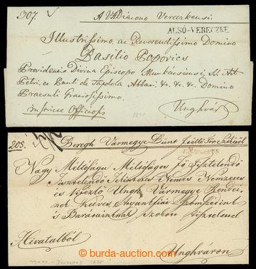 221714 - 1820-1845 ALSÓ-VERECZKE, V.MUNKATS, UNGVAR (2x)  sestava 4