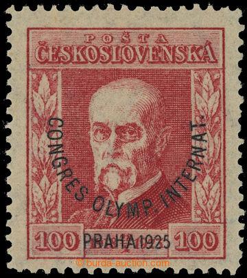 221754 - 1925 ZT  Pof.181, Kongres 100h červená, zkusmý tisk pří