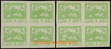221755 -  Pof.3, 5h světle zelená, 2x 4-blok s VV - zeppelin barevn