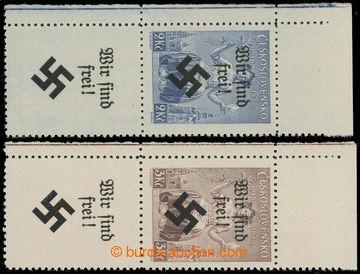 221785 - 1939 MÄHRISCH OSTRAU / Mi.30LS, 31LS, přetiskové WIR SIND