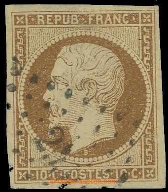 221864 - 1852 Mi.8a, Napoleon III. REPUB. FRANC. 10C žluto hnědá;