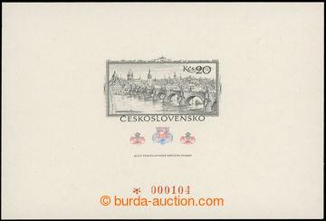 221871 - 1978 VT9a, 60 let čs. známky 20Kčs, číslovaný; bez vad