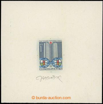 221901 - 1979 ZT  Pof.2357, Výročí RVHP 1Kčs, zkusmý tisk rytiny
