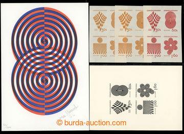 221924 - 1966 návrhy na zn. 20. let ČSSR, autor Ivan Strnad, signov