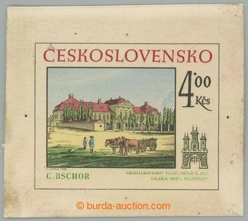 221965 - 1981 ZT  Pof.2495, Bratislavské motivy 4Kčs, zkusmý otisk