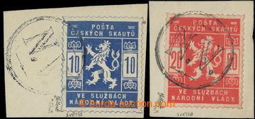 222002 - 1918 Pof.SK1a, SK2a, 10h světlemodrá a 20h světle červen