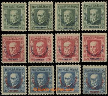 222013 - 1925 Pof.180-182, Kongres 50h - 200h, kompletní sestava dle
