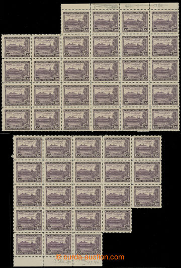 222018 - 1928 Pof.238, Velehrad 1,20Kč fialová, 1x 28-blok + 1x 22-