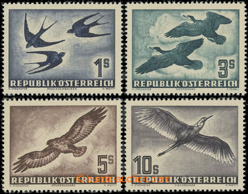 222062 - 1953 Mi.984-987, Ptáci 1S - 10S; svěží, kat. 300€