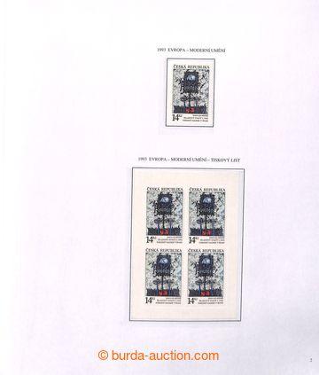 222100 - 1993-2008 [SBÍRKY]  GENERÁLNÍ / sbírka na zasklených li