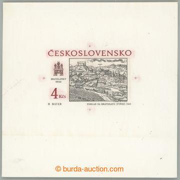 222102 - 1987 ZT  Pof.2813, Bratislavské motivy 4Kčs, zkusmý tisk
