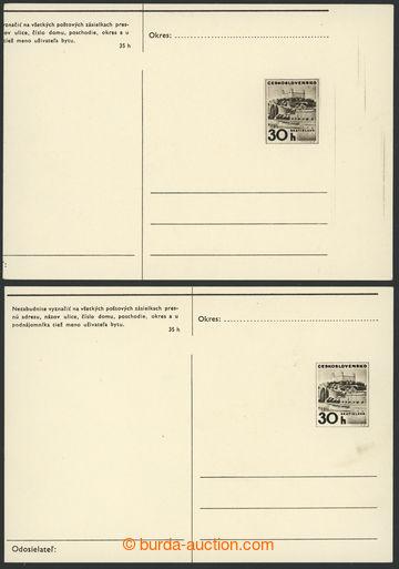 222114 - 1968 CDV162, Bratislava (I) 30h, sestava 2ks s VV, 1x výraz