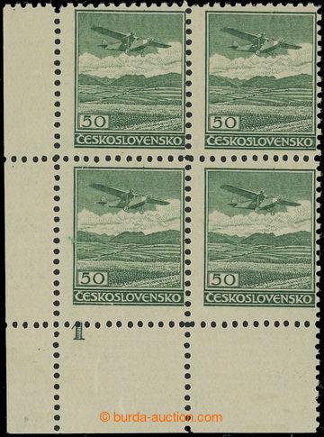 222150 -  Pof.L7A, 50h zelená, I. typ, úzká s ŘZ 12¼, levý doln