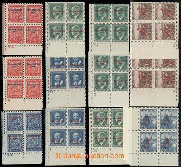 222218 - 1939 DESKOVÁ ČÍSLA / sestava 12ks rohových 4-bloků s D�