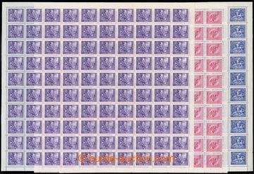 222270 - 1943 ARCHOVINA / Pof.108-110, Wagner 60h-250h, kompletních