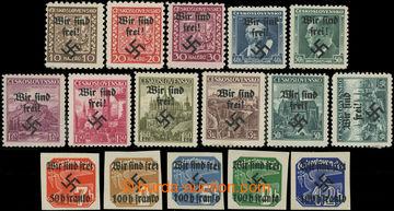222294 - 1939 RUMBURG / sestava 16 zn., obsahuje výplatní Znak 10h,