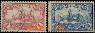 222367 - 1901 Mi.16-17, Císařská jachta 1M a 2M, razítkované; be