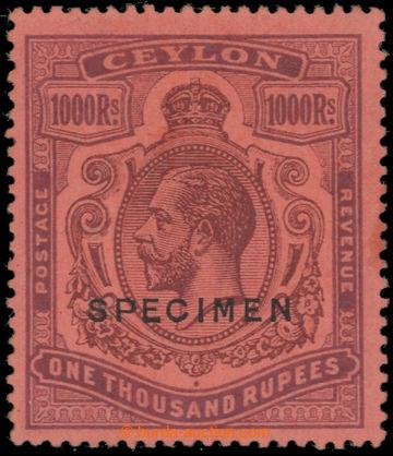 222383 - 1912 SG.323s, Jiří V. 1000Rs červená / purpurová SPECIM