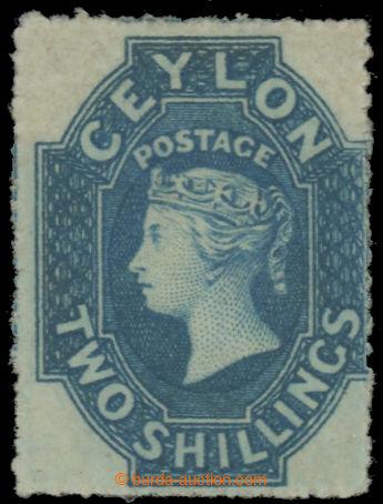 222384 - 1861 SG.37, Viktoria 2Sh (Perkins Bacon) modrá; úplný pů