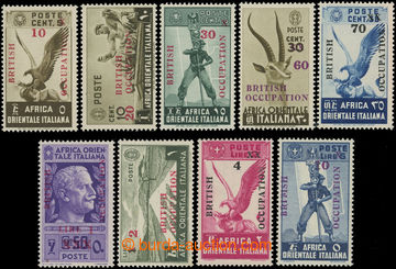 222419 - 1941 BRITSKÁ OKUPACE / Sass.1-9, kompletní série 10C-10L;