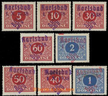 222424 - 1938 KARLSBAD / Mi.30, 31, 33, 38, 5ks Doplatní 5h-2Kč s f