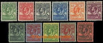 222430 - 1929 SG.116-126, Jiří V. 1/2P-£1, kompletní tzv. Little