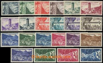 222440 - 1955-1957 Mi.142-163, 2 kompletní série Krajinky včetně