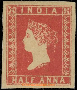 222446 - 1854 SG.1, Viktorie 1/2 Anna vermilion, litografické vydán