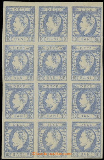 222453 - 1871 Mi.29IIa, Vévoda Karel I. 10B ultramarínová, bezvadn