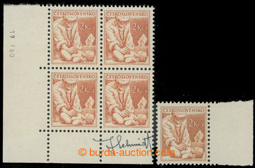 222478 - 1954 Pof.785a, Povolání 2Kčs, hnědooranžová sdatem t