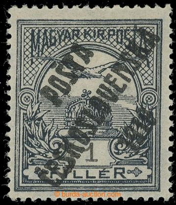 222500 -  Pof.89z, 1f šedá / černá, průsvitka z, nejvzácnějš�