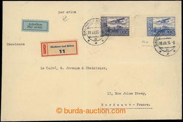 222505 - 1935 PRAHA - PAŘÍŽ / těžší R+Let-dopis adresovaný do